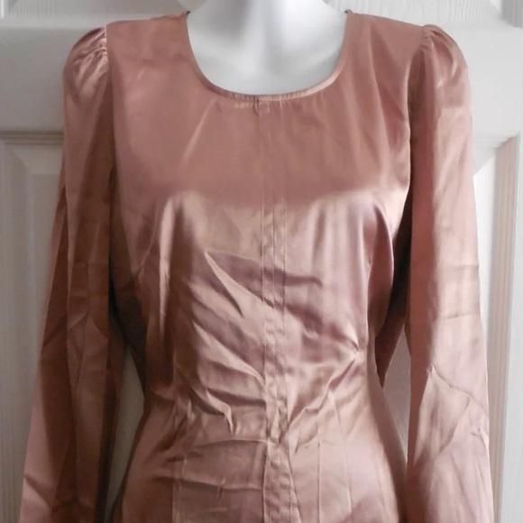 998effbc4e38a5 Rose Gold Silk Ann Taylor Vintage Style Top